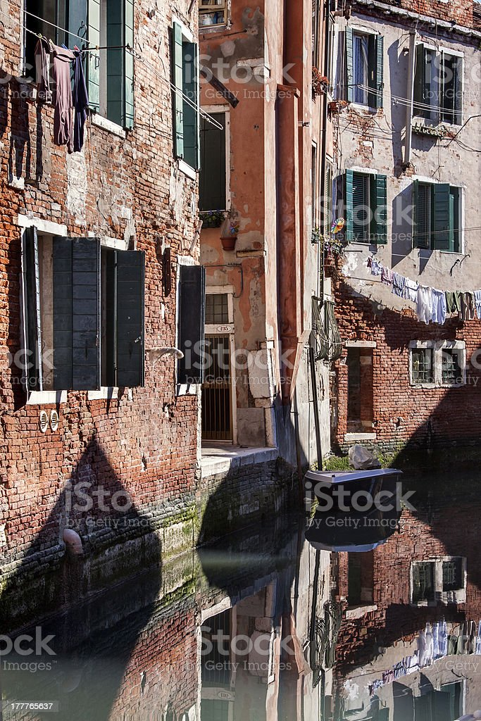 Sunny canal royalty-free stock photo