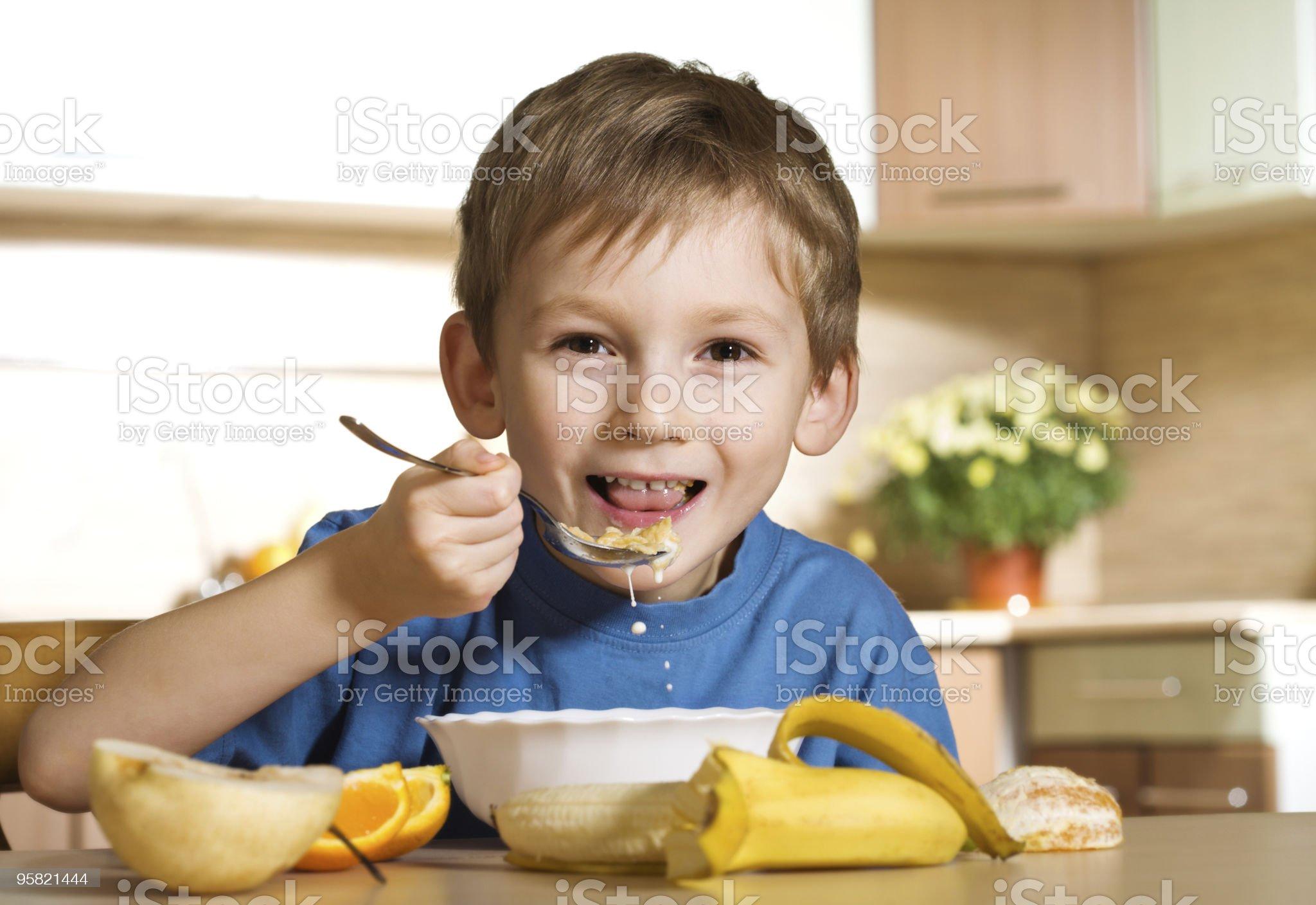 Sunny cheerful breakfast royalty-free stock photo