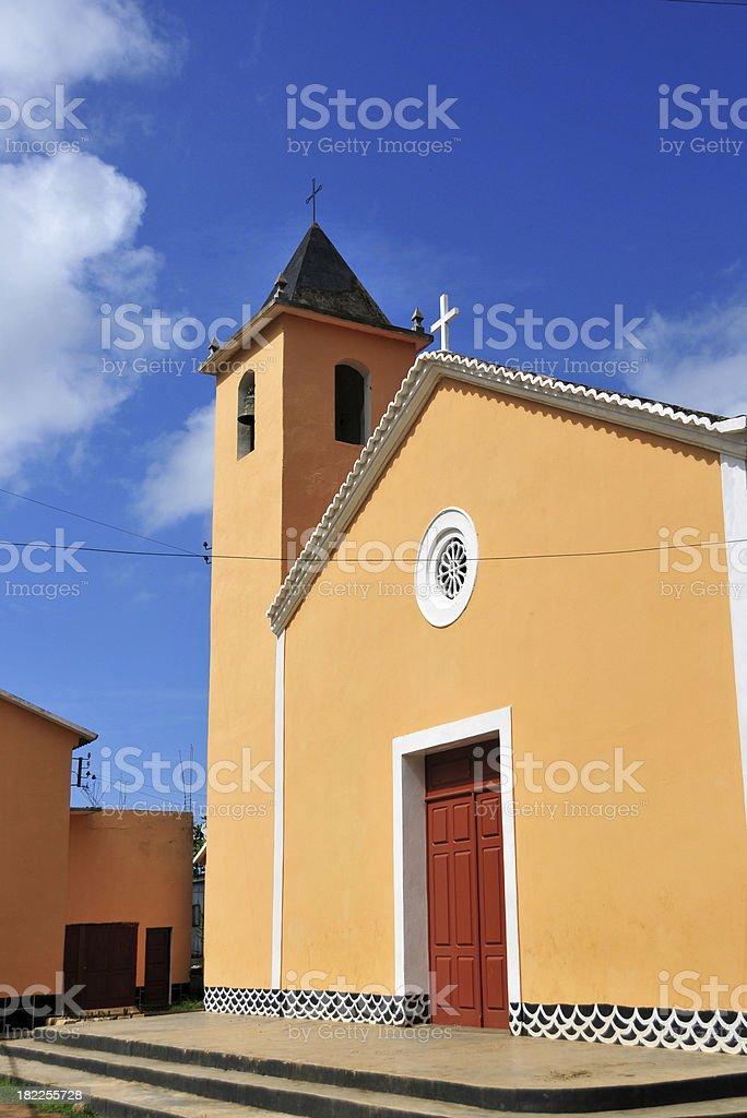 sunny church - Santo Amaro, S?o Tom? and Pr?ncipe stock photo