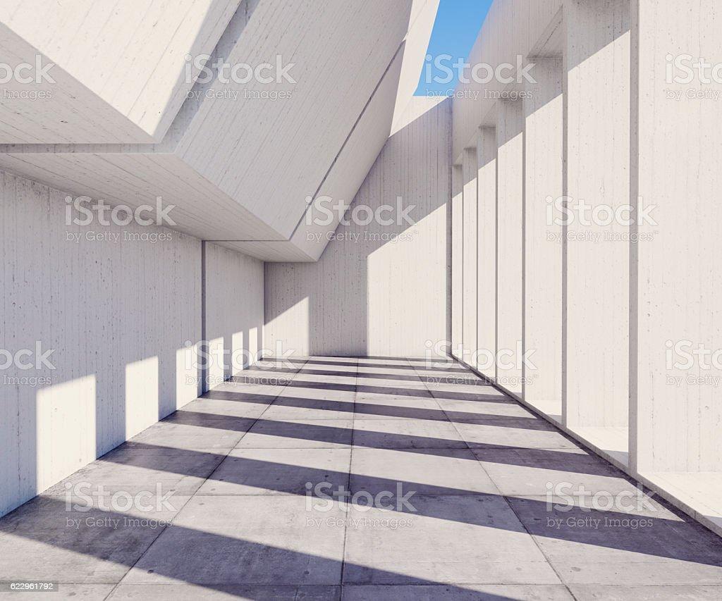 Sunny concrete architecture stock photo