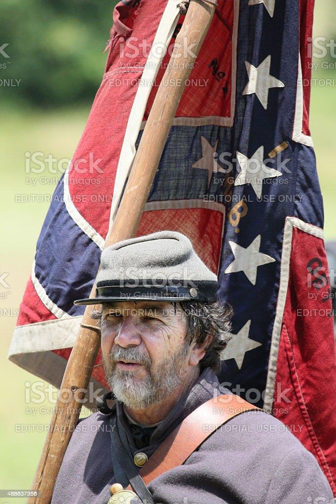 sunny Confederate stock photo