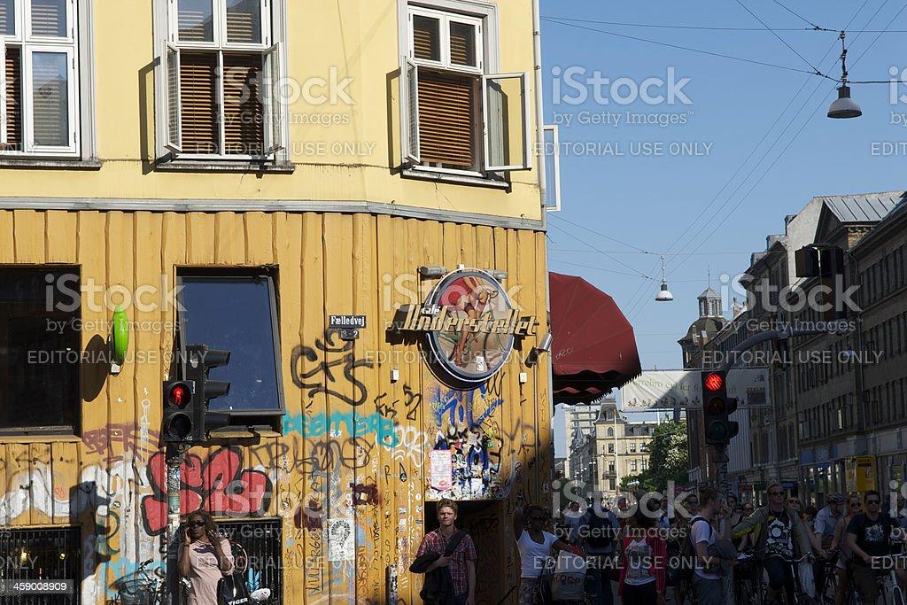 Sunny Copenhagen Scene stock photo