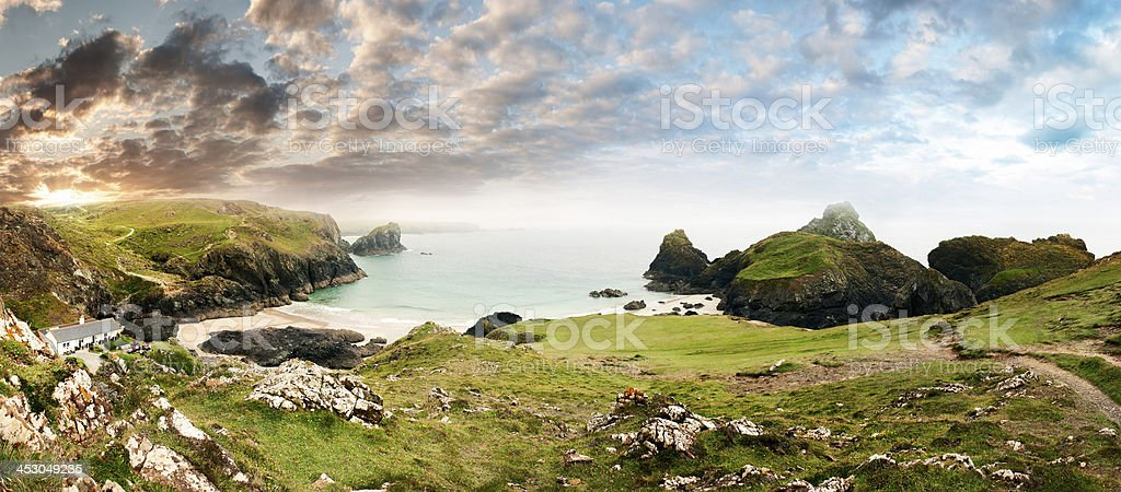 Sunny Cornwall stock photo