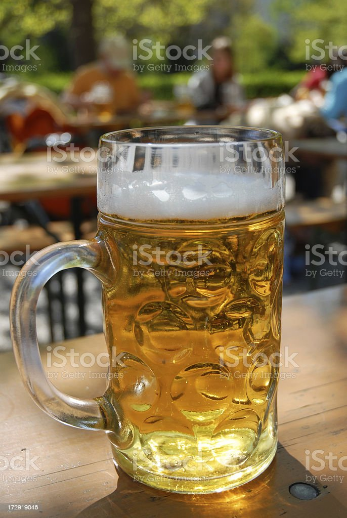 Sunny day at a bavarian beer garden royalty-free stock photo