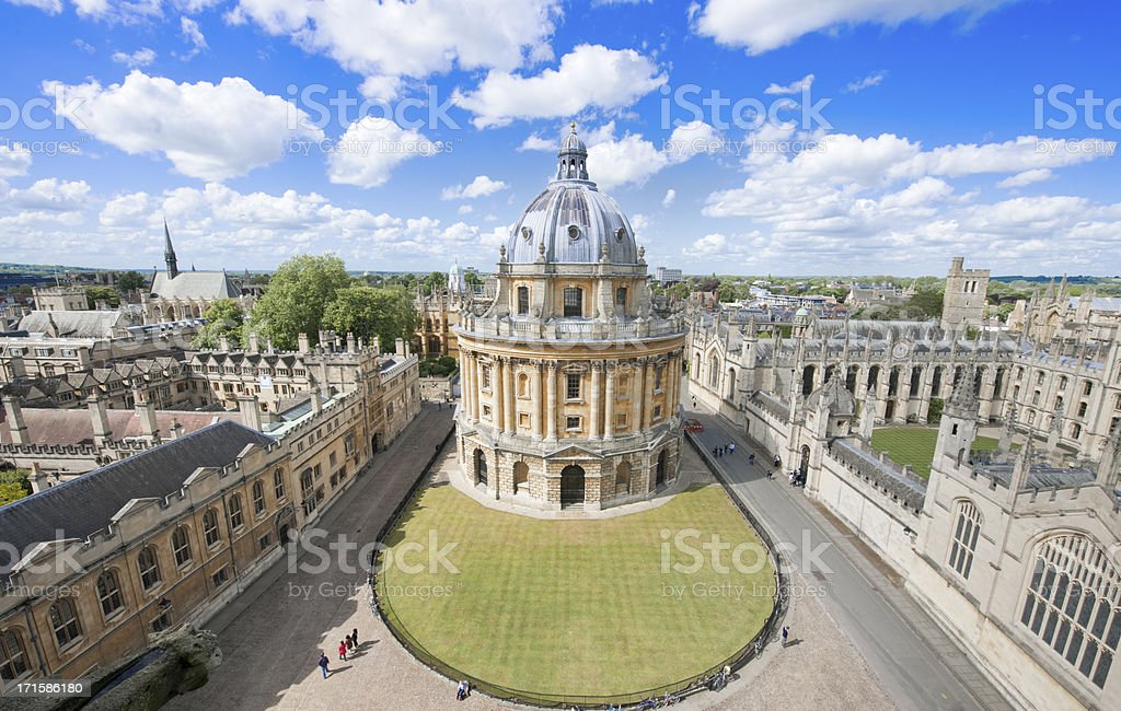 Sunny day at Radcliffe Camera, in Oxford UK royalty-free stock photo