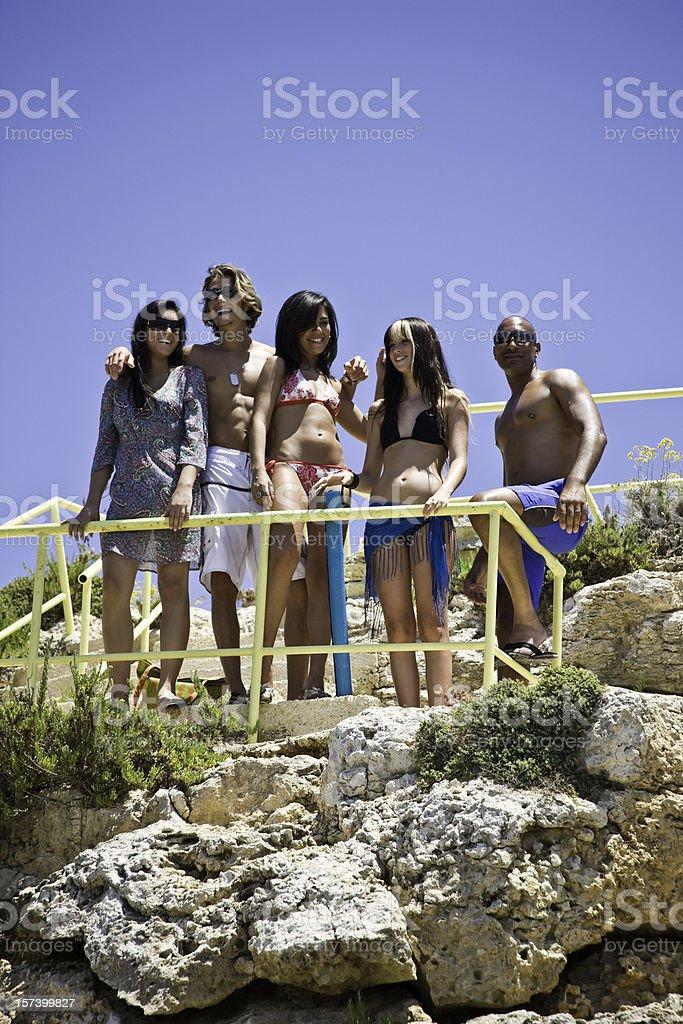 Sunny Day at the Beach royalty-free stock photo