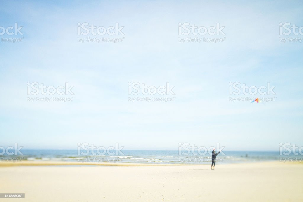 Sunny day at the Ocean royalty-free stock photo