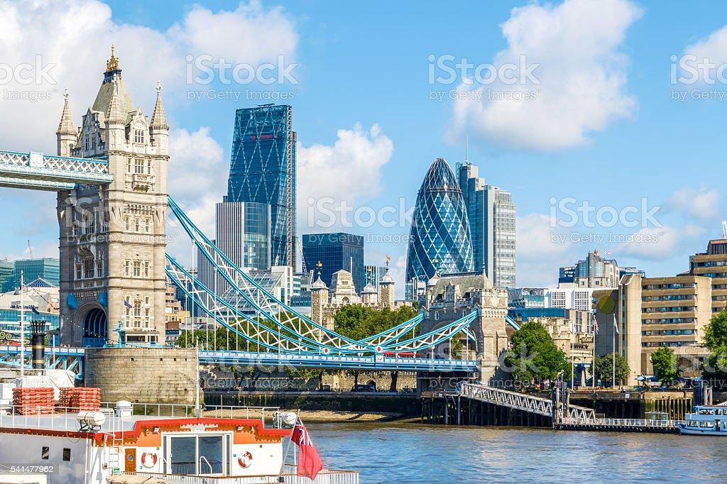 Sunny Day at Tower Bridge stock photo