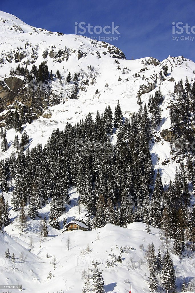 Sunny day in Alps royalty-free stock photo