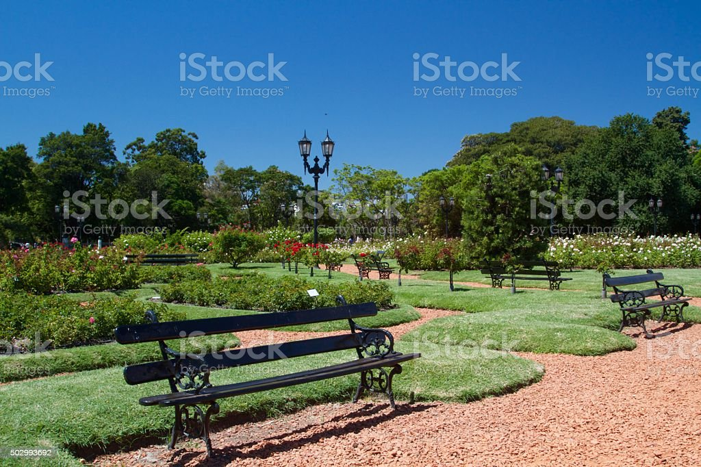 Sunny day in Buenos Aires stock photo