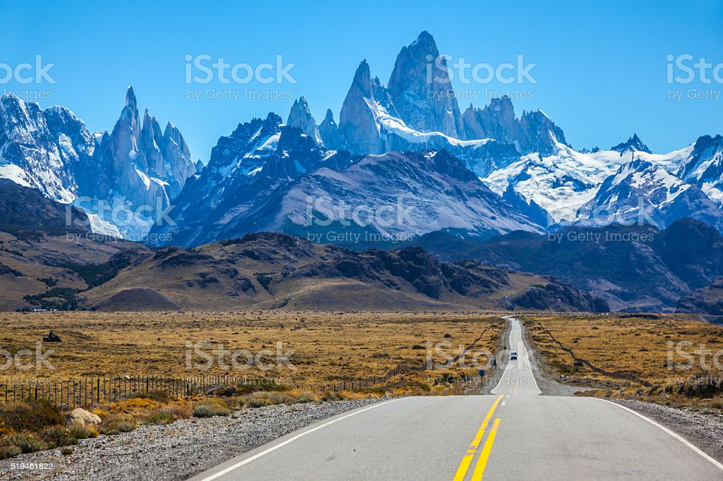 Sunny day in February in Argentine Patagonia stock photo