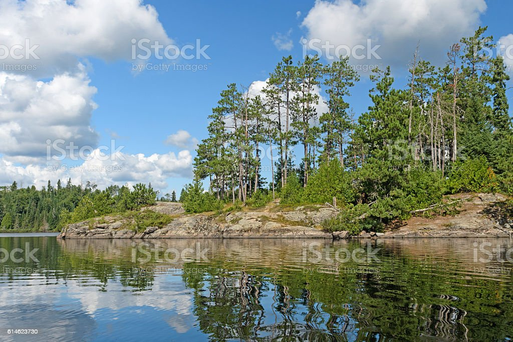 Sunny Day on a North Woods Island stock photo