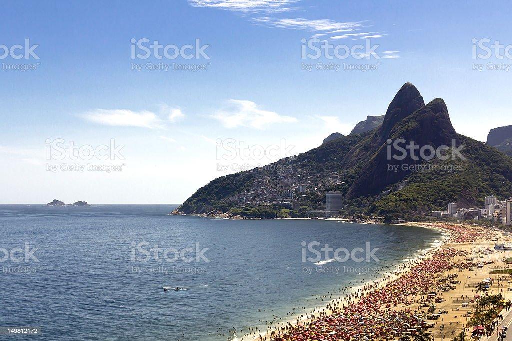 Sunny day on Ipanema Beach royalty-free stock photo