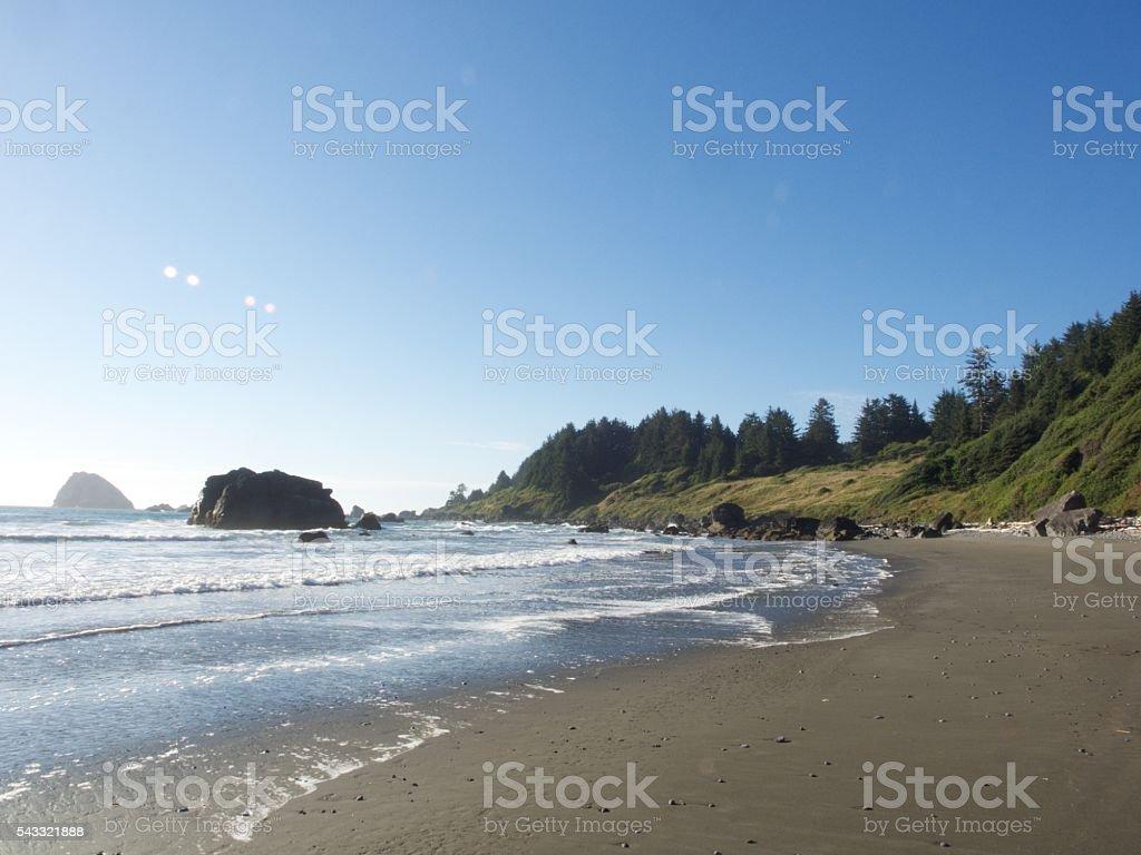 Sunny Day on the Beach in California stock photo
