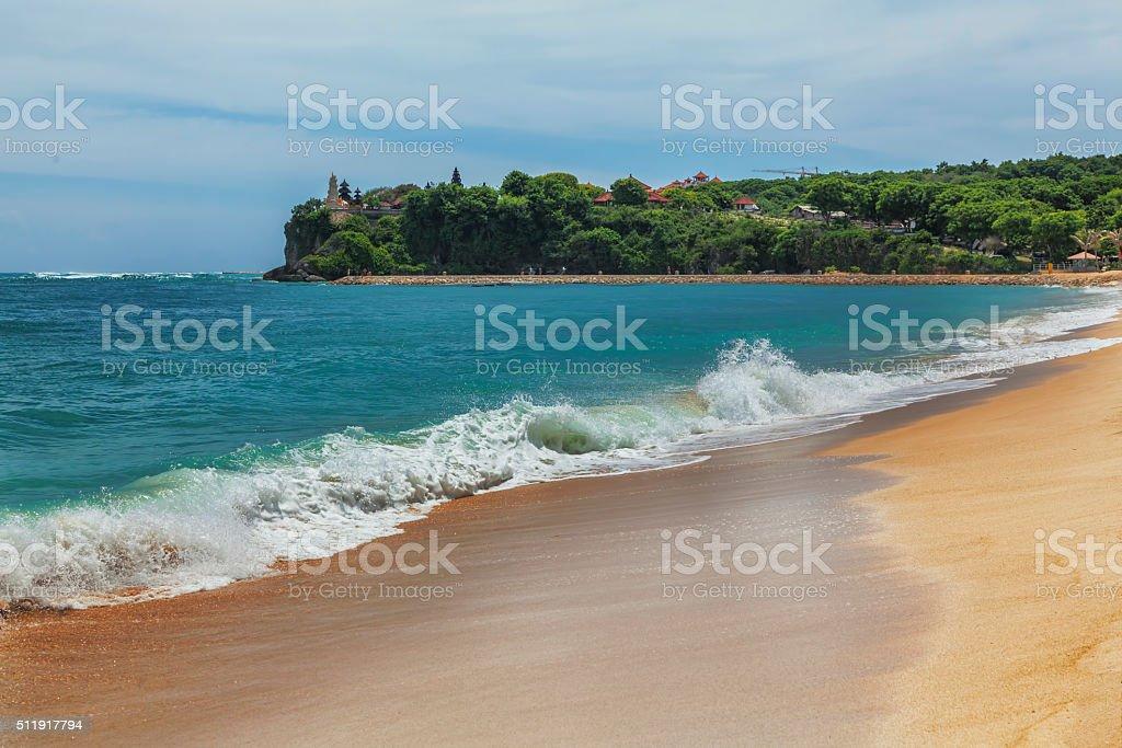 Sunny day on the beach stock photo