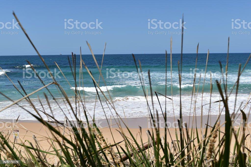 Sunny day Wollongong beach,Pacific Ocean, Australia stock photo
