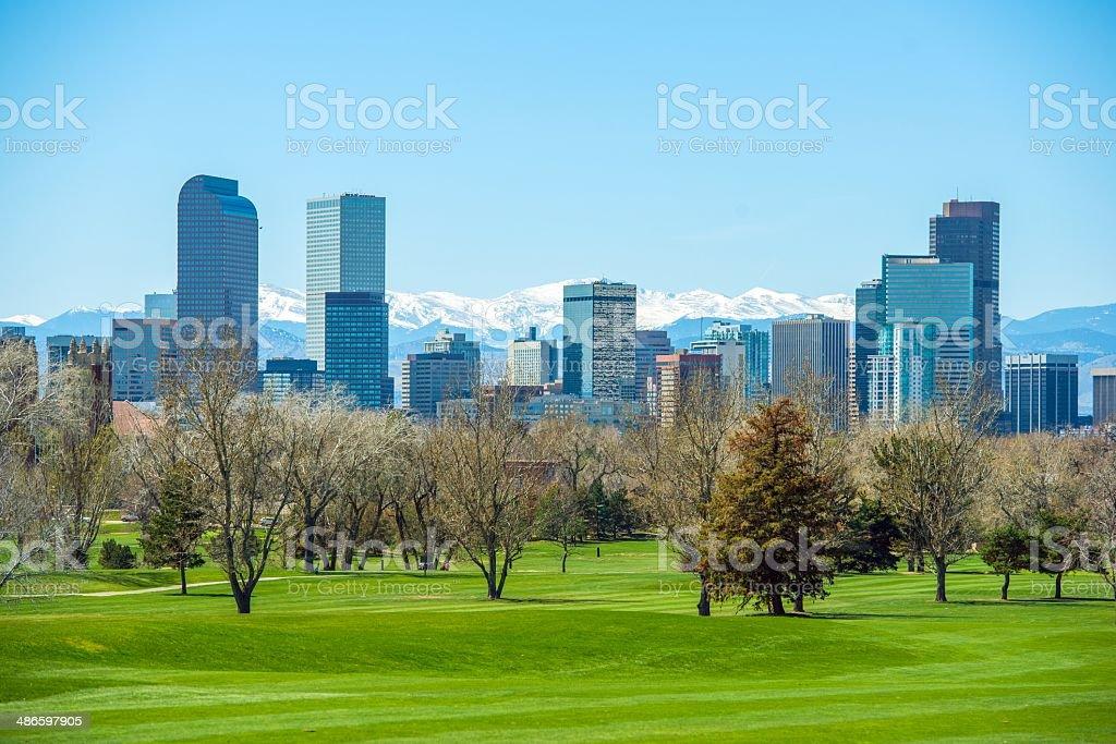Sunny Denver Skyline stock photo