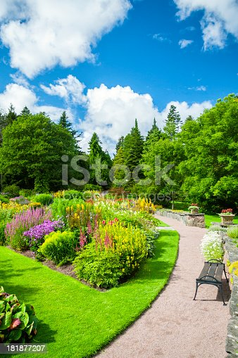 Sunny Garden stock photo 181877207   iStock