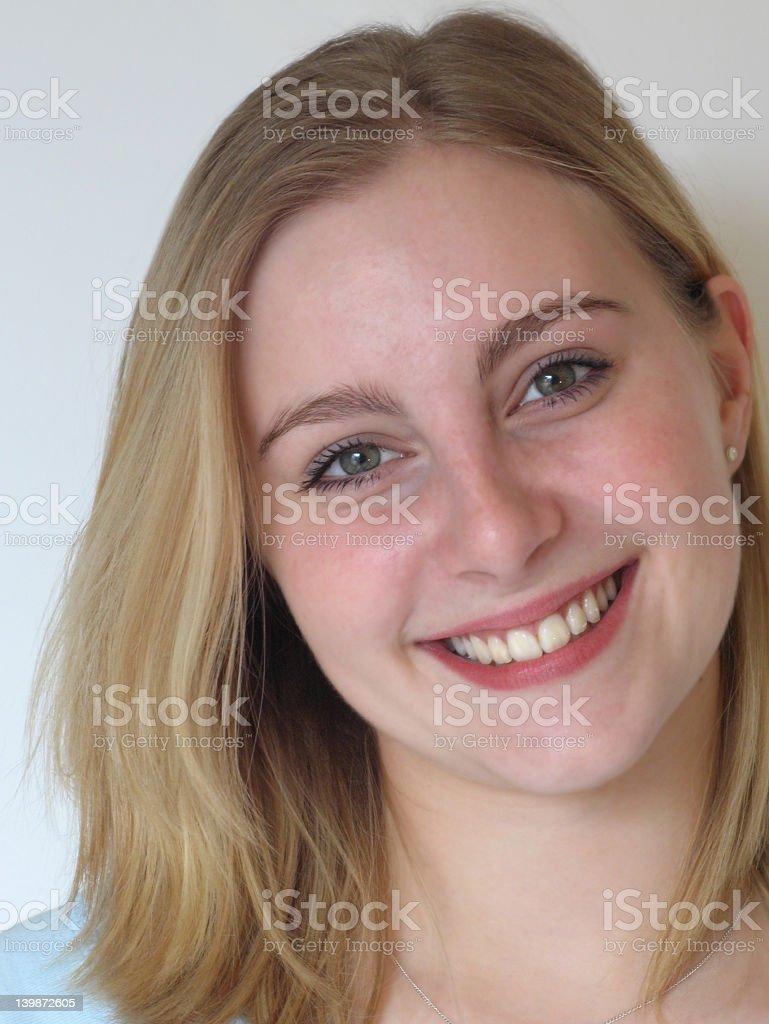 Sunny girl stock photo