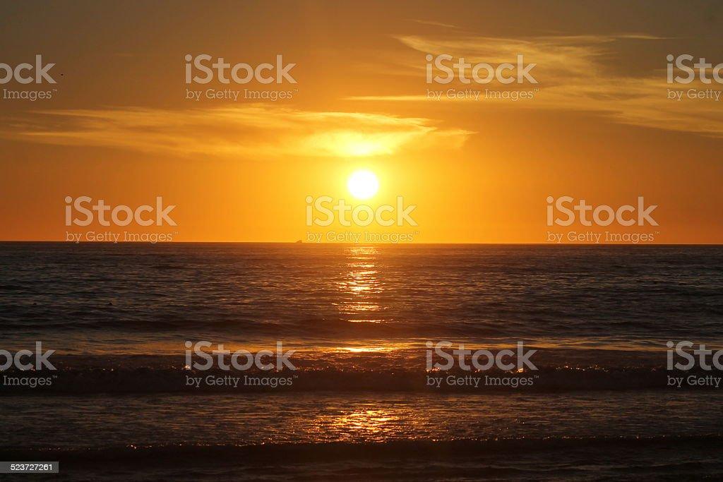 Sunny Horizon over Ocean stock photo