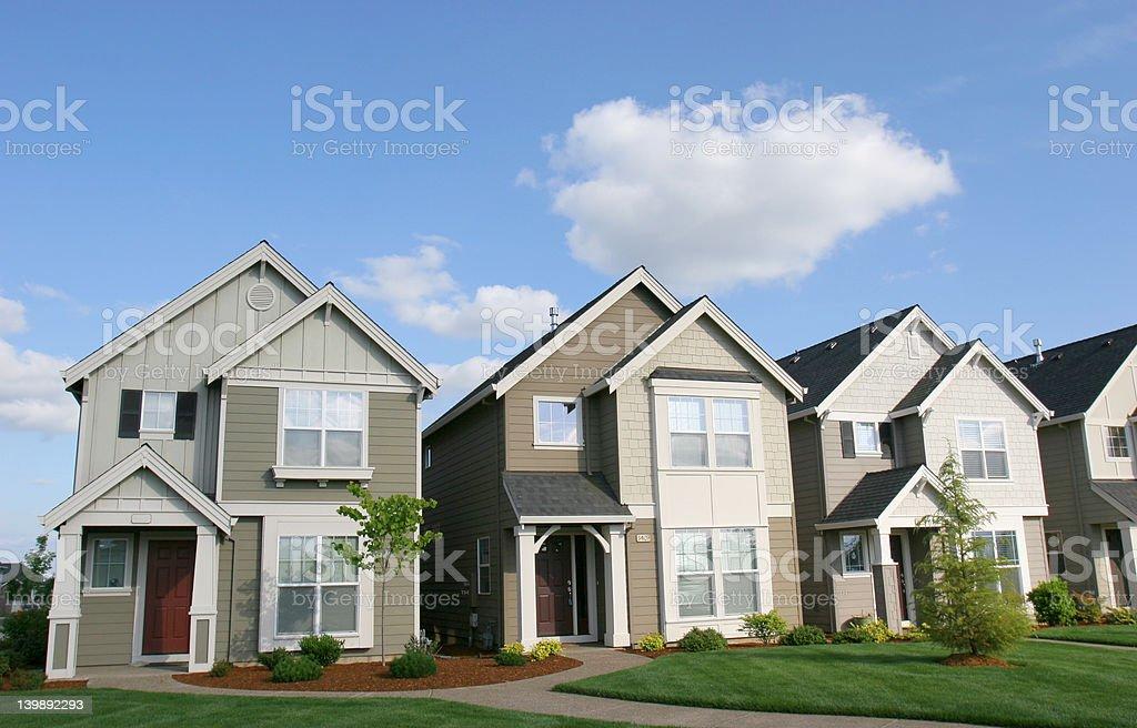 Sunny Houses stock photo