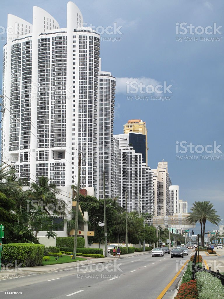 Sunny isles stock photo