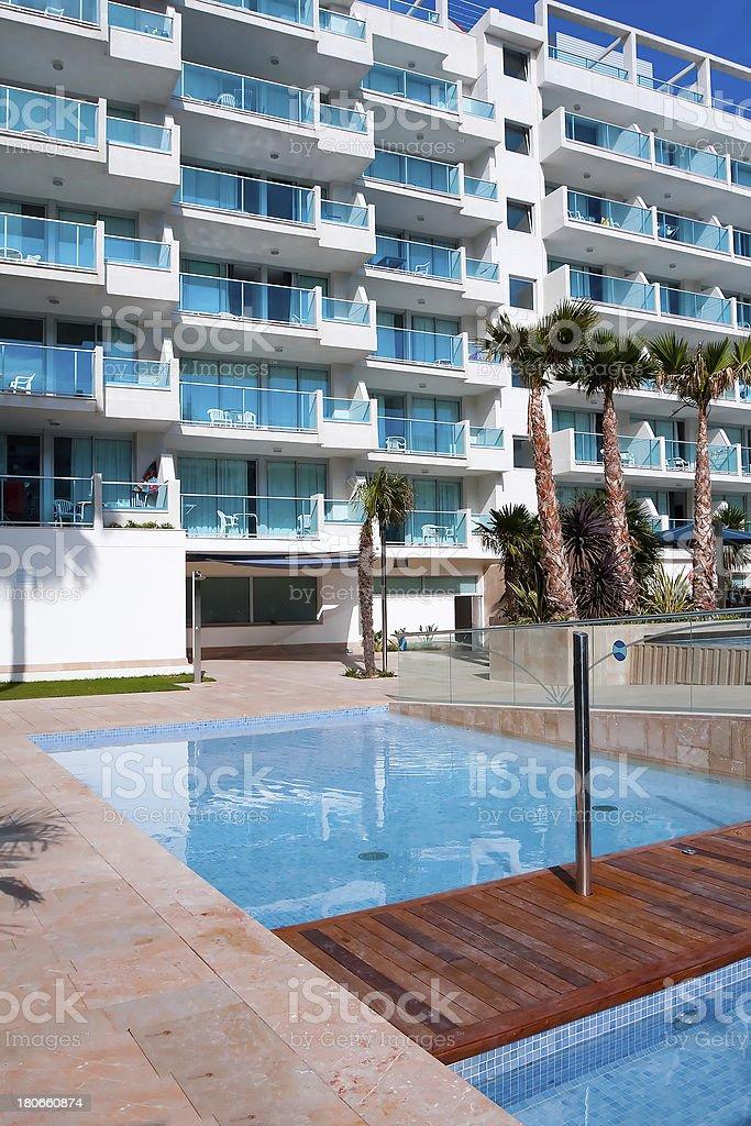 sunny lounge near the pool royalty-free stock photo