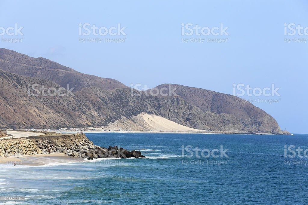 Sunny Malibu stock photo