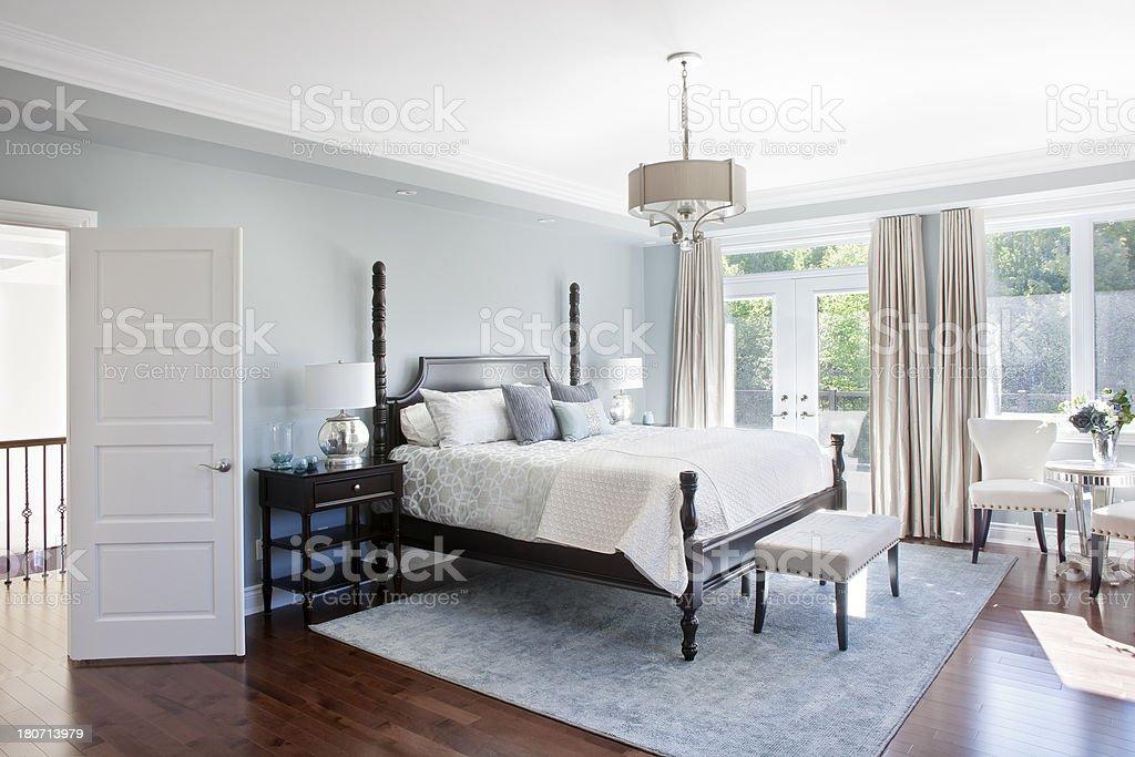 Sunny Master Bedroom royalty-free stock photo