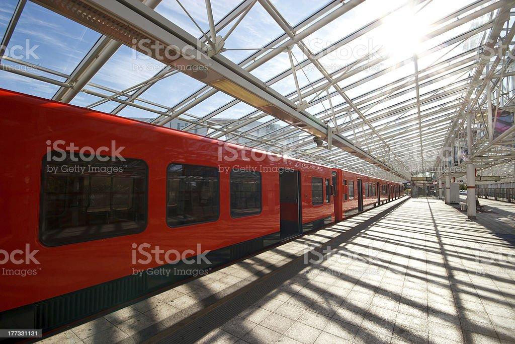 Sunny metro station royalty-free stock photo