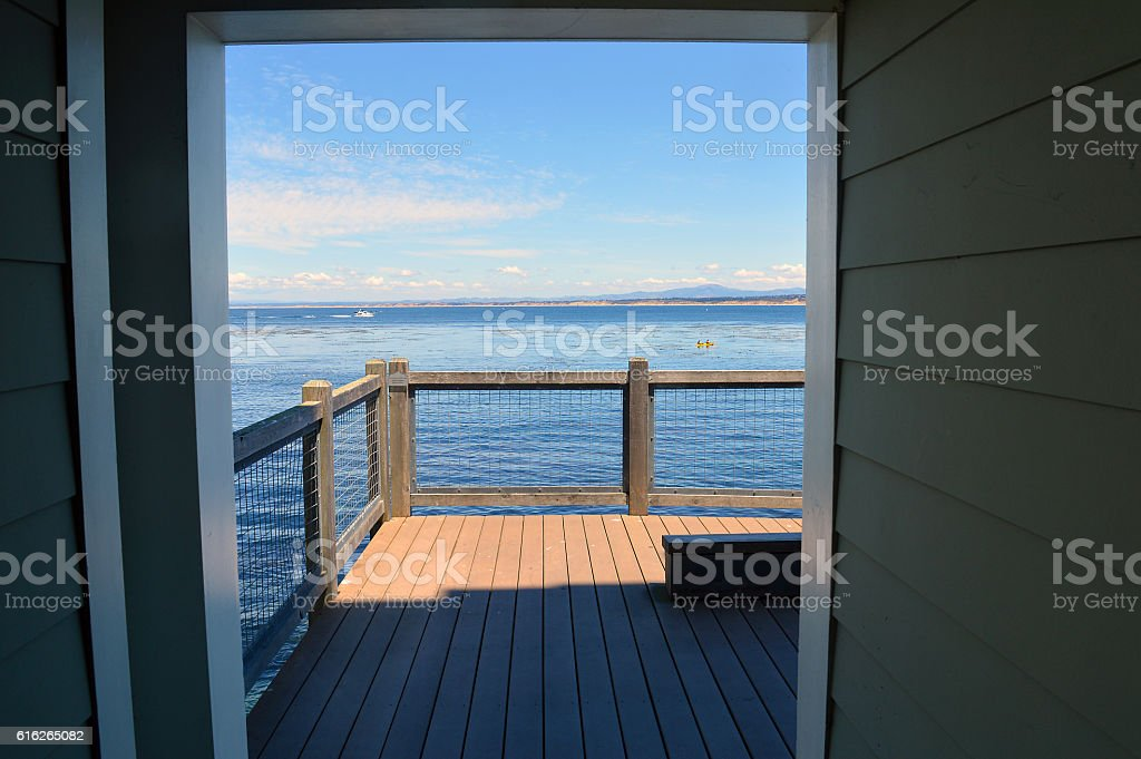 Sunny Monterey Bay stock photo
