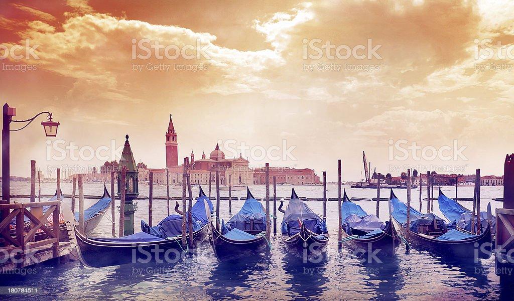 Sunny morning in Venice royalty-free stock photo