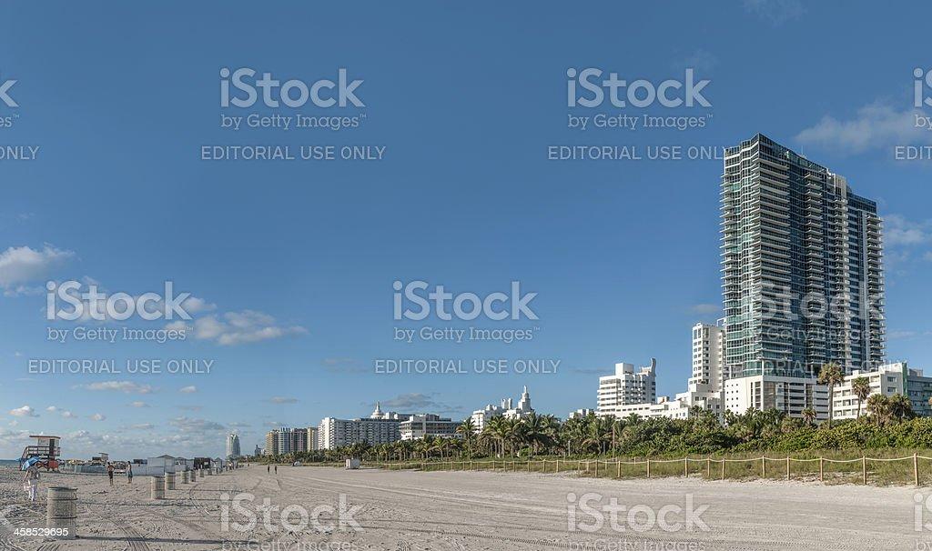 Sunny morning Miami stock photo