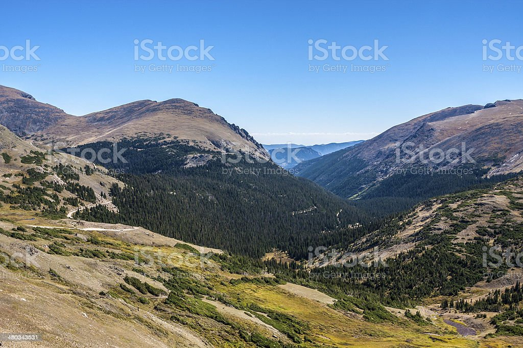 Sunny Mountain Scenery above Timberline royalty-free stock photo