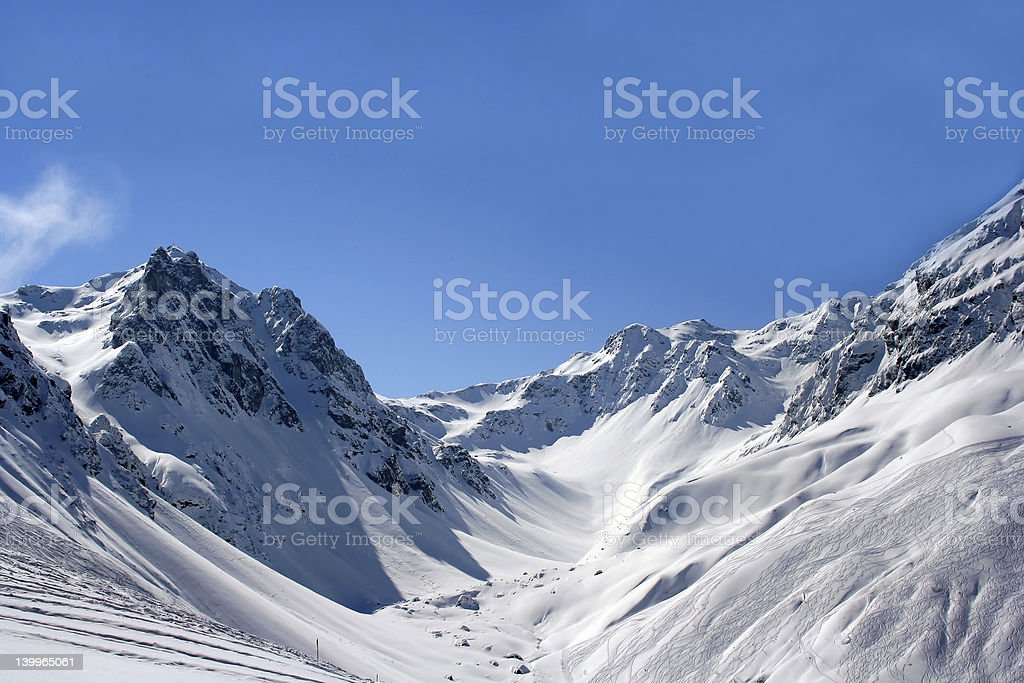 Sunny mountains royalty-free stock photo