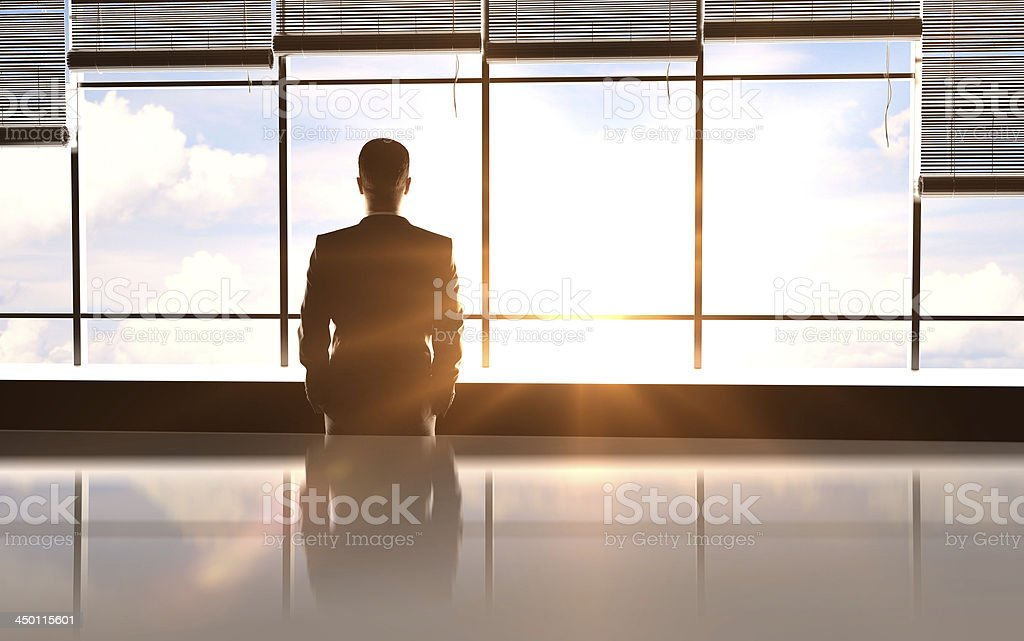 sunny office stock photo