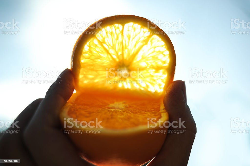 sunny orange stock photo