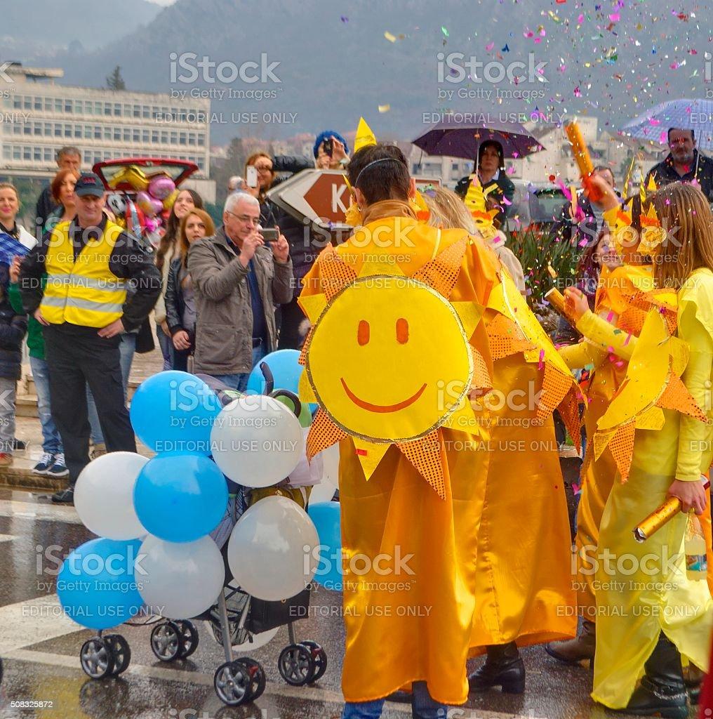 Parady karnawałowe słoneczny zbiór zdjęć royalty-free