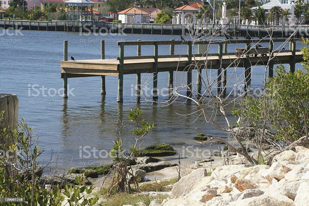 Sunny Pier stock photo