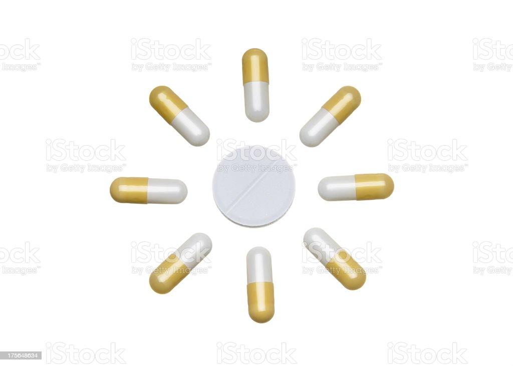 Sunny Pills stock photo