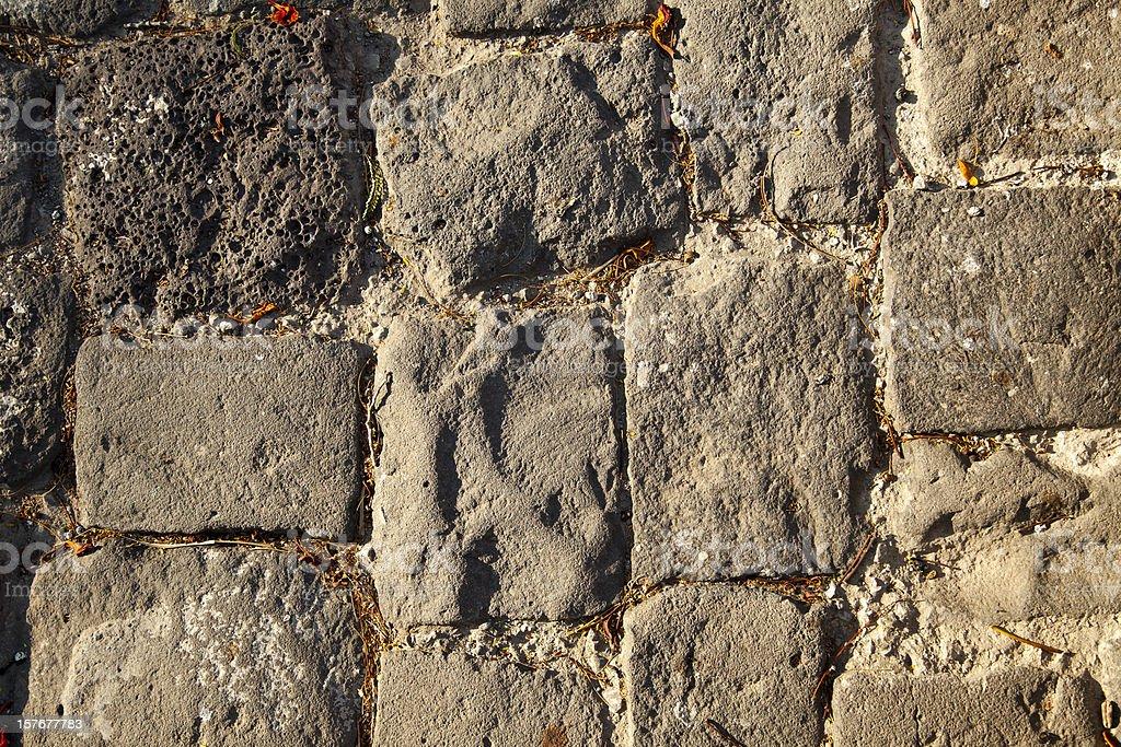 Sunny Rock Tiled Floor Background stock photo