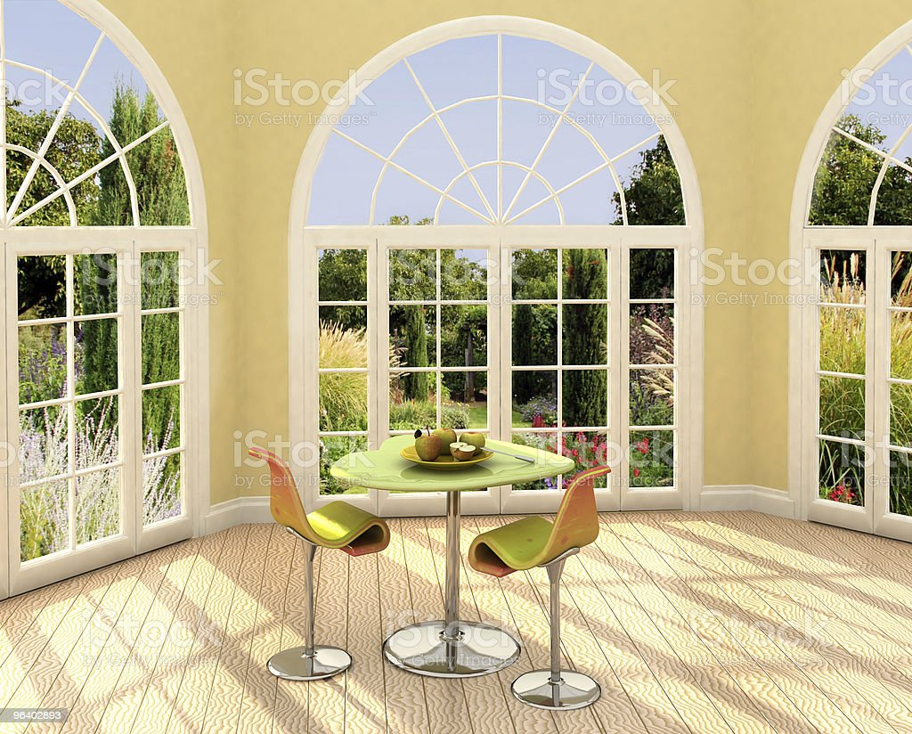 Sunny room royalty-free stock photo