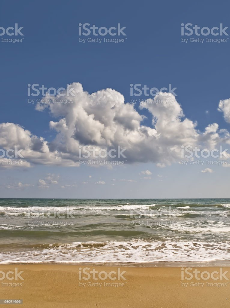 Sunny Seascape Vertical stock photo