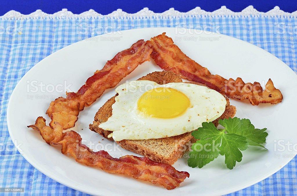 Sunny Side Up Breakfast royalty-free stock photo