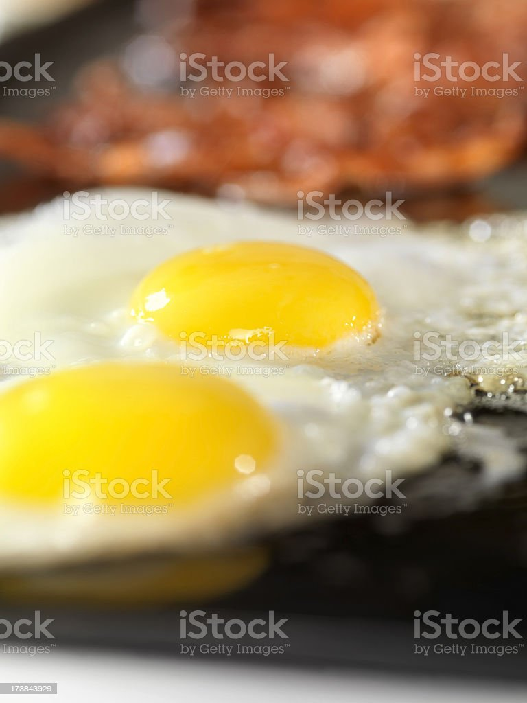 Sunny Side Up Eggs with Bacon royalty-free stock photo