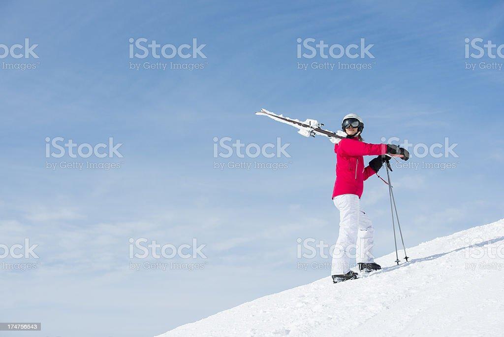 Sunny skiing royalty-free stock photo