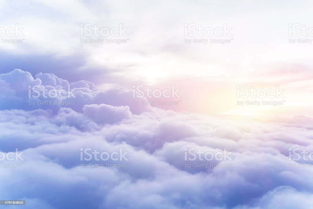 Sunny sky background stock photo