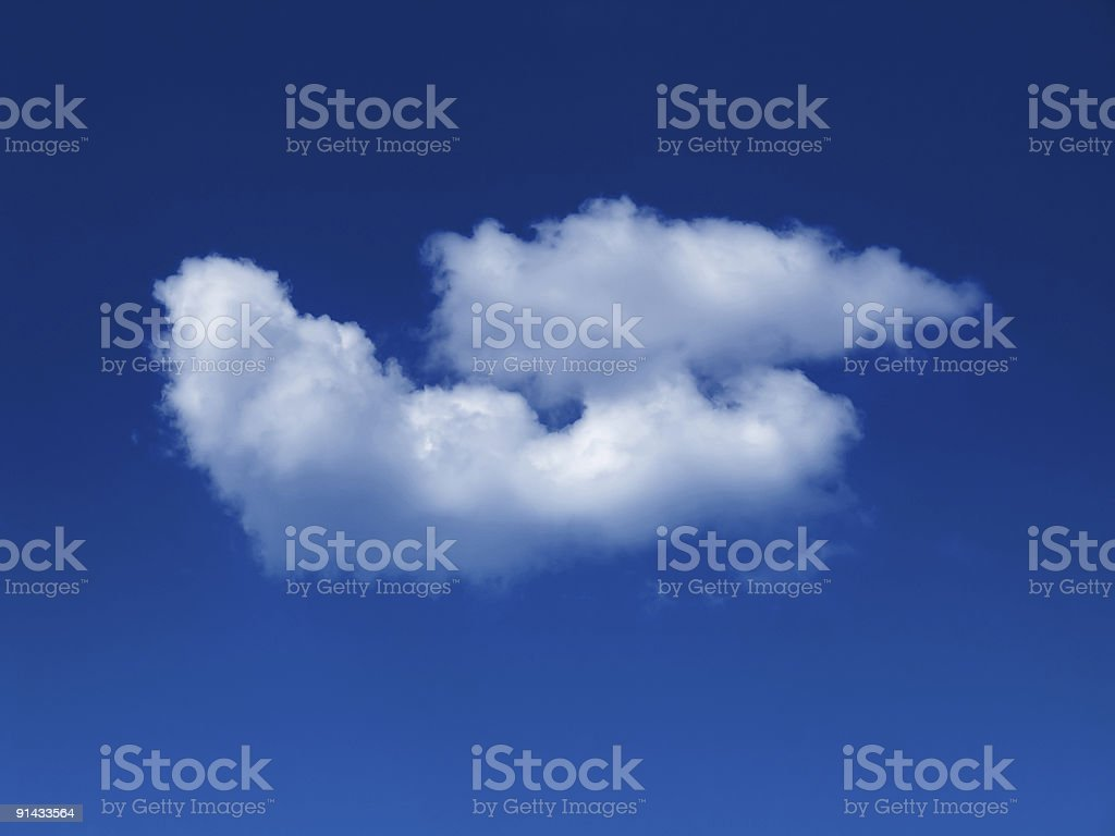 sunny sky background with fluffy white cumulus cloud stock photo