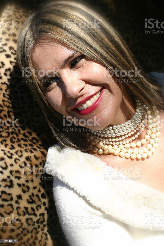 Sunny smile stock photo
