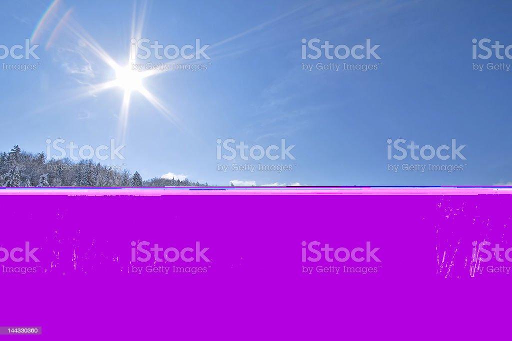 Sunny snow Landscape royalty-free stock photo